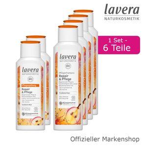 6tlg. lavera Repair & Pflege Shampoo und Spülung Haarpflege Bio-Traubenkernöl