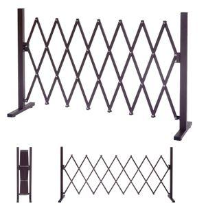 Absperrgitter HWC-B34, Scherengitter Rankhilfe Tierschutzgitter ausziehbar, Alu braun  Höhe 103cm, Breite 35-300cm