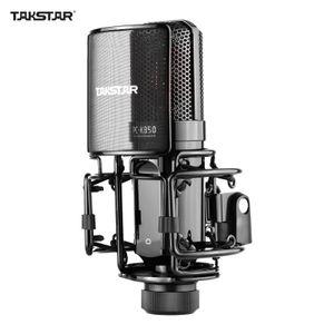 TAKSTAR PC-K850 Seitenadressen-Aufnahmemikrofon Nieren-Aufnahmemuster Kabelgebundenes Kondensatormikrofon fuer Live-Streaming Karaoke Professional Studio-Instrumentenaufnahme