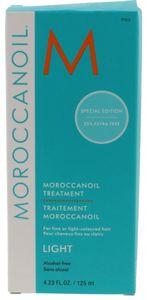 Moroccanoil light 125 ml Oil Treatment & Dosierpumpe - feines / hell coloriertes Haar