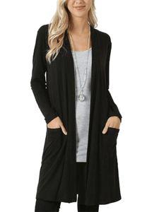 Strickjacke für Damen in Übergröße Strickjacke für Damen mit langen Ärmeln Top,Farbe: schwarz,Größe:3XL