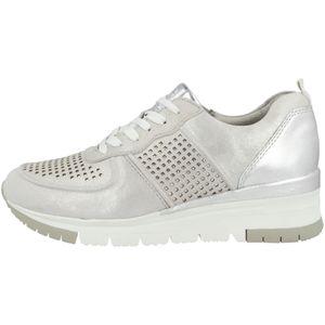 Tamaris 1-23745-24 961 Damen Silver/Punch Silber Leder Sneaker, Groesse:39 EU