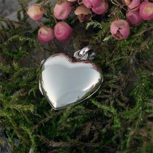 Kleines Herz Medaillon: Silber Foto Anhänger