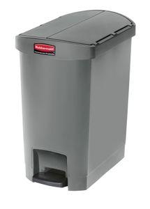 Slim Jim Step On Container End Step Kunststoff 30 Liter, Rubbermaid, Farbe:Grau