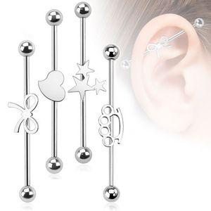 Industrial Piercing Stab Ohrpiercing, Motiv:Schleife