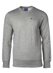 Champion Herren Sweatshirt - Pullover, Logo-Stick, langarm, unifarben Grau L