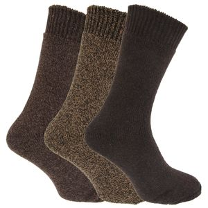 Herren Thermo-Socken, 3er-Pack MB430 (39-45 EU) (Brauntöne)