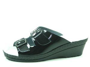Rohde 1463-91 Neustadt-50 Schuhe Damen Pantoletten Clogs Weite G, Größe:39 EU, Farbe:Schwarz