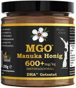 Manuka Honig Bee Natural Mgo® 600+ / Echtglas Glas / 250G Manukahonig # Mgo 300 ≥ Umf 10, 400 ≥ Umf 12, 550 ≥ 15, 700 ≥ 18, 800 ≥ 19, 850 ≥ 20