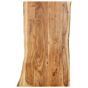 vidaXL Tischplatte Massivholz Akazie 100x(50-60)x2,5 cm