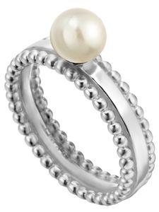 ESPRIT Ring Powder Damen Fingerring Perle 925er Sterling Silber, Größe:18 mm
