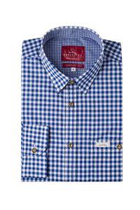 edelheiss edelheiss Trachtenhemd langarm dunkelblau kariert Robby 005119 Größe: XL