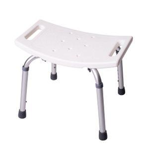 ONVAYA Badhocker Kunststoff weiß   150kg   Duschhocker höhenverstellbar   Duschsitz   Duschstuhl   Duschhilfe