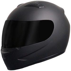 Integralhelm Motorradhelm Helm 805 Rollerhelm Gr. S  matt schwarz + Visier schwarz getönt