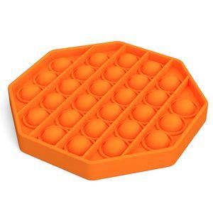 Push Pop It Pop Blase Sensorisches Zappeln Silikon Spielzeug Autismus Stressabbau Lernspielzeuge für Kinder  - Orange Octagon