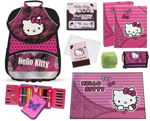 Hello Kitty PL Schulranzen Set mit Federmappe und Zubehör