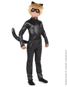 Cat Noir-Kostüm für Jungen Miraculous-Kostüm schwarz