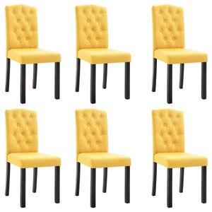 vidaXL Esszimmerstühle 6 Stk. Gelb Stoff