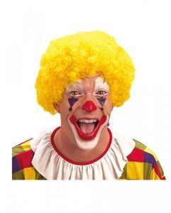 Gelbe Clowns Perücke für Fasching & Halloween