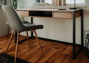 Schreibtisch Denver in Artisan Eiche und Anthrazit Industrial Look Laptoptisch für Homeoffice und Büro 120 x 60 cm