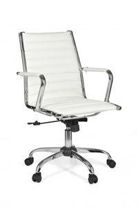 AMSTYLE Bürostuhl GENF 2 Bezug Kunst-Leder Schreibtischstuhl Weiß X-XL 110 kg Chefsessel höhenverstellbar Drehstuhl