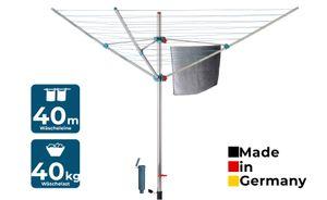 BLOME Wäschespinne Alustar XL - Wäscheständer inkl. Bodenhülse zum Eindrehen,  Germany
