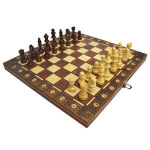 3 in 1 Schach Set Schach Checkers Backgammon Klapp Holz Schach Bord 17x17inch