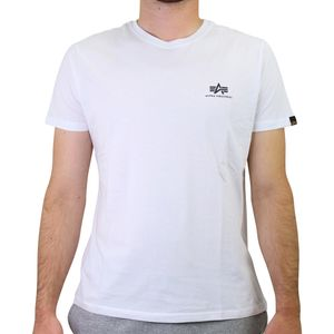 Alpha Industries Basic Small Logo T-Shirt Herren Weiß (188505 09) Größe: 2XL (56-58)