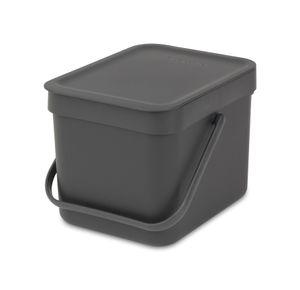 Brabantia - Abfallbehälter 'Sort & Go', 6 L,Farbe:grau, 109720