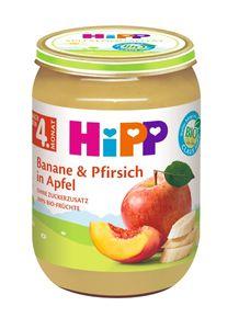 HiPP Früchte nach dem 4.Monat, Banane und Pfirsich in Apfel, DE-ÖKO-037 - VE 190g