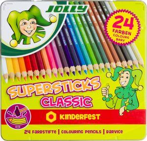 JOLLY Superstick kinderfest CLASSIC sort., 24er 3D-Metalletui
