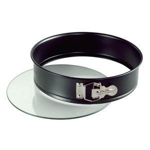Kaiser 230-0622019 Springform 26cm CHRYSTAL mit Glasboden, schwarz