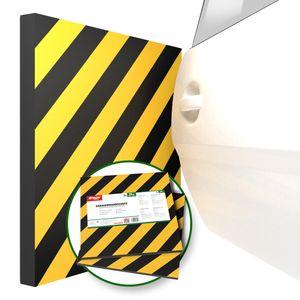 ATHLON TOOLS 2x XXL Garagen-Wandschutz mit Reflektor | je 50 x 50 cm | Selbstklebend | Rammschutz Prallschutz Garagenpolster Türkantenschutz (gelb/schwarz)