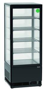 Mini-Kühlvitrine 98 Liter schwarz