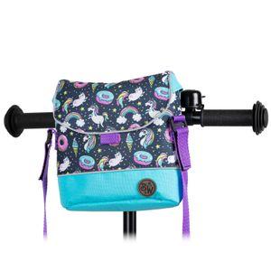 BAMBINIWELT Lenkertasche Tasche für Puky für Woom Laufrad Räder Roller Fahrrad Fahrradtasche für Kinder wasserabweisend mit Schultergurt, Modell 24