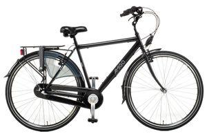 Amigo Bright - Cityräder für Herren 28 Zoll - Herrenfahrrad mit Rücktrittbremse, Handbremse, Beleuchtung und 3 Shimano Gänge - Schwarz
