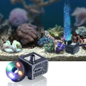 Mini Wasserpumpe mit LED 180L/h 3.5W kleines Aquarium, Garten, Brunnen, Gartenteich Springbrunnen, Aquariumpumpe