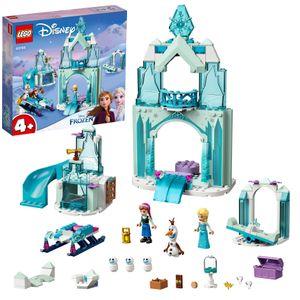 LEGO 43194 Disney Princess Annas und Elsas Wintermärchen, Eiskönigin Spielzeug zum Bauen mit Schloss und Mini Puppen