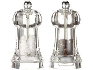 Peugeot Toul Duo Mühlenset und Kombi 2 in 1 Salz- und Pfeffermühle transparent
