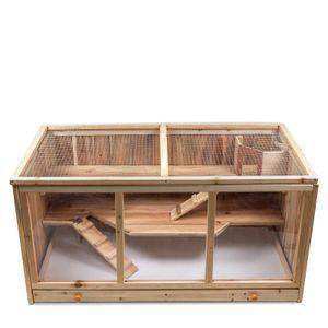 Hamsterkäfig aus Holz 95 x 50 x 51cm Stall Käfig für Hamster