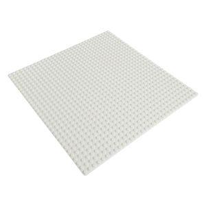 Platte 25,5cm x 25,5cm / 32x32 Pins, Große Grund- Bauplatte für Lego, Q-Bricks, MY, Sluban kompatibel, Grund-Platte, Weiß für Eis und Schnee, Winter