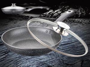 Meisterklasse bratpfanne 24 cm Aluminium/Glas schwarz 2-teilig