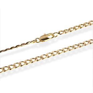 PANZERKETTE 50cm Königskette 3,2mm Vergoldet mit 18K 750 gelb Gold 5542