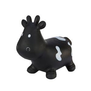 Tootiny Hüpftier, Sprungtier, Hüpfkuh, aufblasbares Hüpfspielzeug aus hochwertigem und strapazierfähigem Gummi, inkl. Pumpe,, Farbe:Black