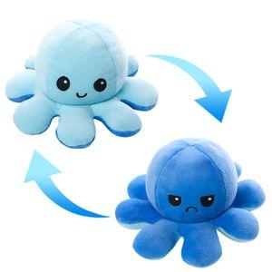 (Stil K - 40cm) Kuscheltiere, Niedliche Oktopus-Plüsch-Spielzeug, Doppelseitig Flip Oktopus-Stofftierpuppe, Kreative Spielzeuggeschenke für Kinder / Mädchen / Jungen / Liebhaber