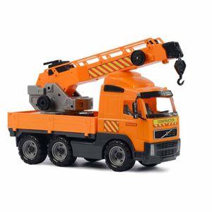 Polesie Spielzeug-Kranwagen Volvo Orange 1450680