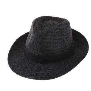 Männer Frauen Panamahut Sonnenhut Strohhut Fedora Hut Trilby Fedora Strandhut Schwarz wie beschrieben