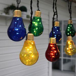 LED Party Lichterkette 'Glow' - 10x5 warmweiße LED - L: 3,6m - Indoor - bunte Glühbirnen