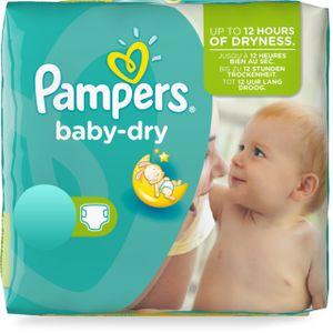 Pampers Baby Dry Gr.5+ Junior Plus 12-17kg MonatsBox, 132 Stück - Größe 5+ - 132 Stück