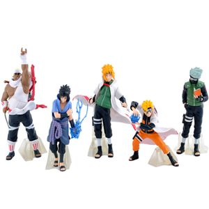 5pcs figur Spielzeug Naruto Kakashi Sasuke Anime Sammlung